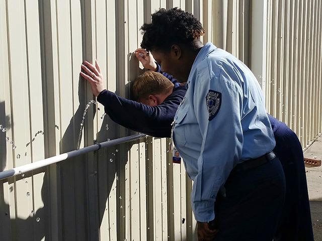 Lt. Davis Supervising Cadet Decontamination